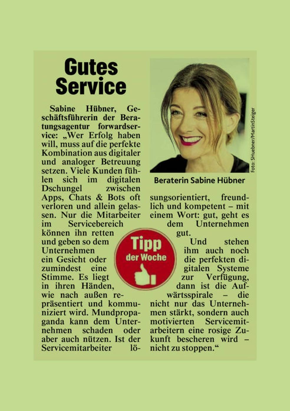 Kronen Zeitung - Gutes Service